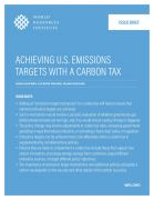 Achieving U.S. emissions targets with a carbon tax
