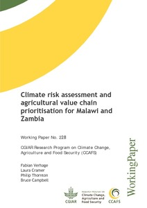 Climate risk assessment and agricultural value chain prioritisation for Malawi and Zambia
