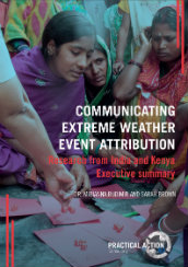Communicating extreme weather event attribution: research from Kenya and India