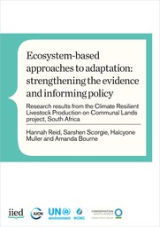 Ecosystem-based approaches to adaptation: strengthening the evidence and informing policy