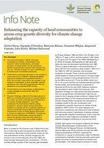 Enhancing the capacity of local communities to access crop genetic diversity for climate change adaptation
