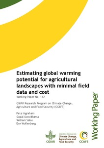 Estimating global warming potential for agricultural landscapes with minimal field data and cost