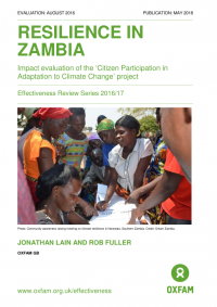 Resilience in Zambia: impact evaluation of the 'Citizen Participation in Adaptation to Climate Change' project