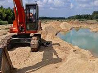 Sand mining destroysancient water channels