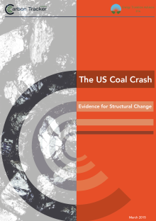 The US coal crash: evidence for structural change