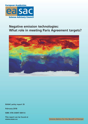 Negative emission technologies: what role in meeting Paris Agreement targets?