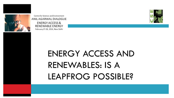 Energy access and renewables: is a leapfrog possible?